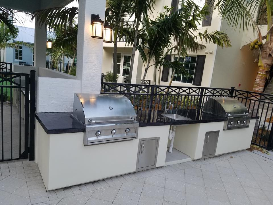 Outdoor Grilling Station in Boca Raton, FL