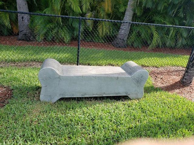 Dog Bone Concrete Bench (Golden Beach, FL)