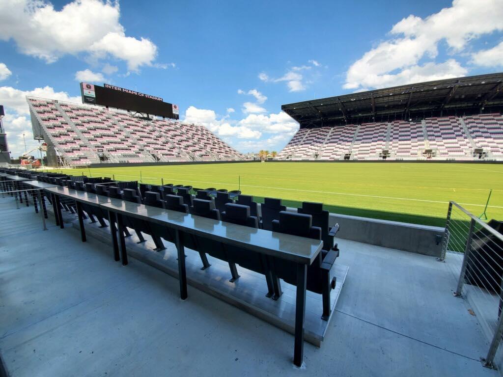 Concrete Countertops / Tables (Lockhardt Stadium)