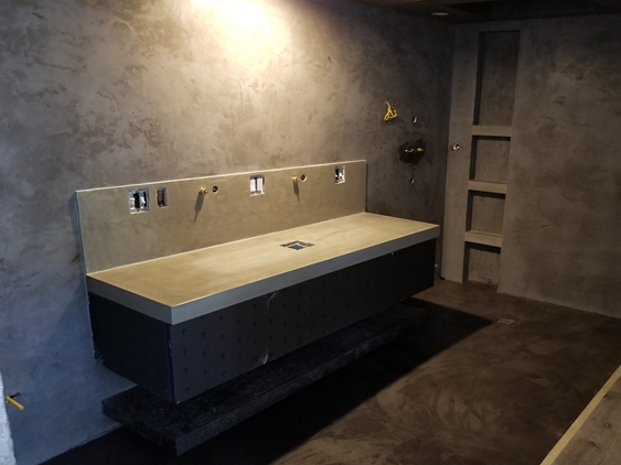 concrete sinks