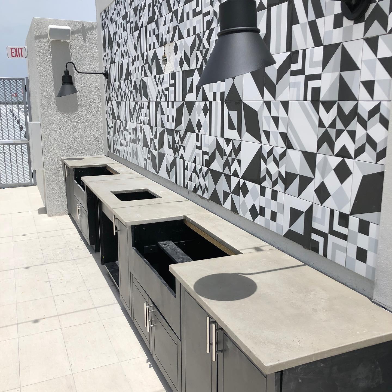 Rooftop Concrete Countertops (Fort Lauderdale, FL)