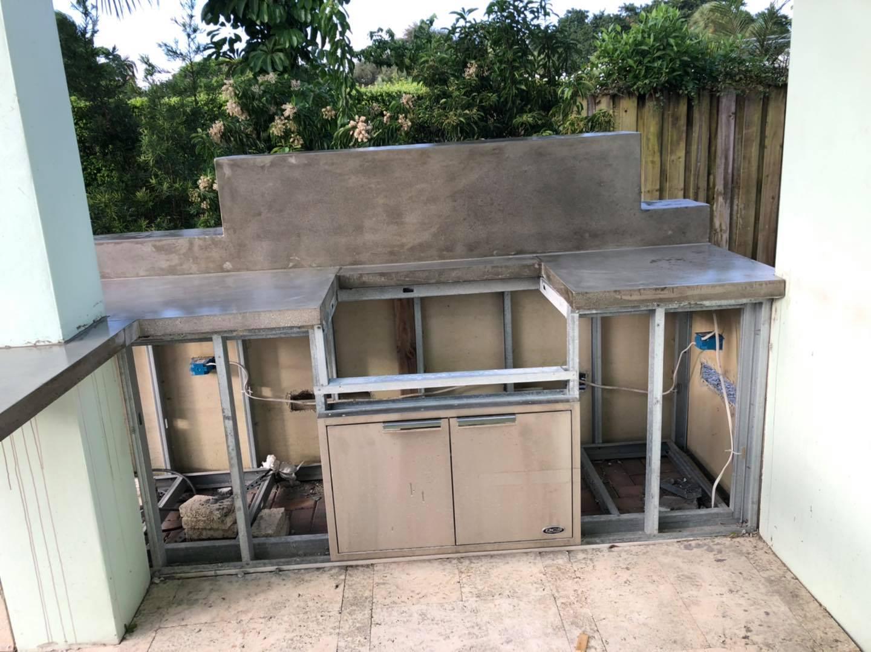 Grilling Station Concrete Countertops (Boca Raton, FL)